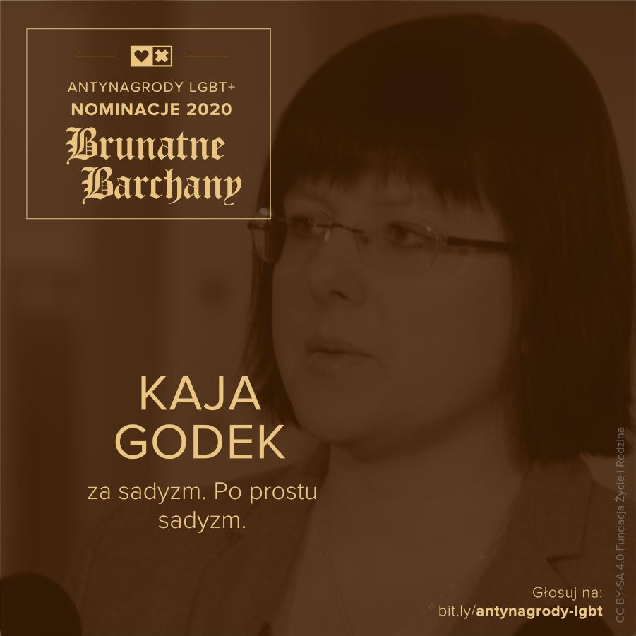 Antynagrody LGBT+ Miłość Nie Wyklucza Kaja Godek