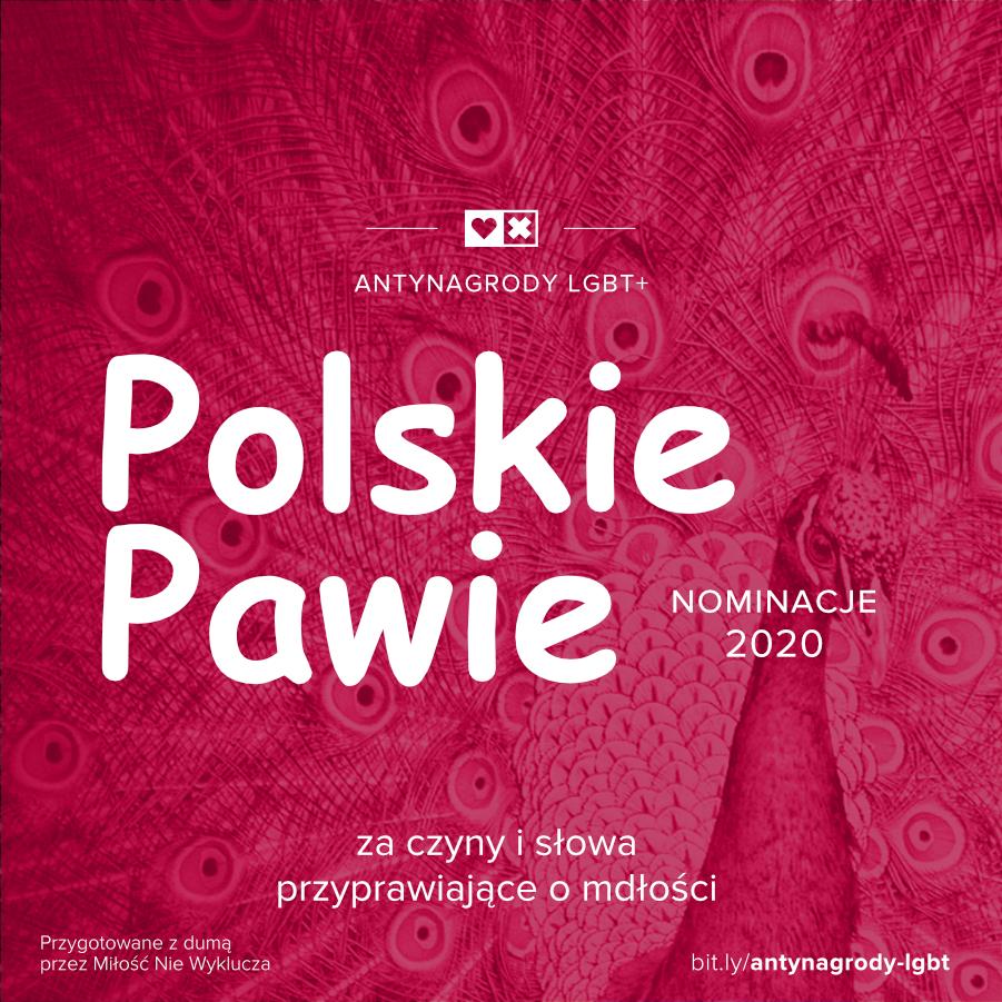 Antynagrody LGBT+ Miłość Nie Wyklucza Polskie pawie