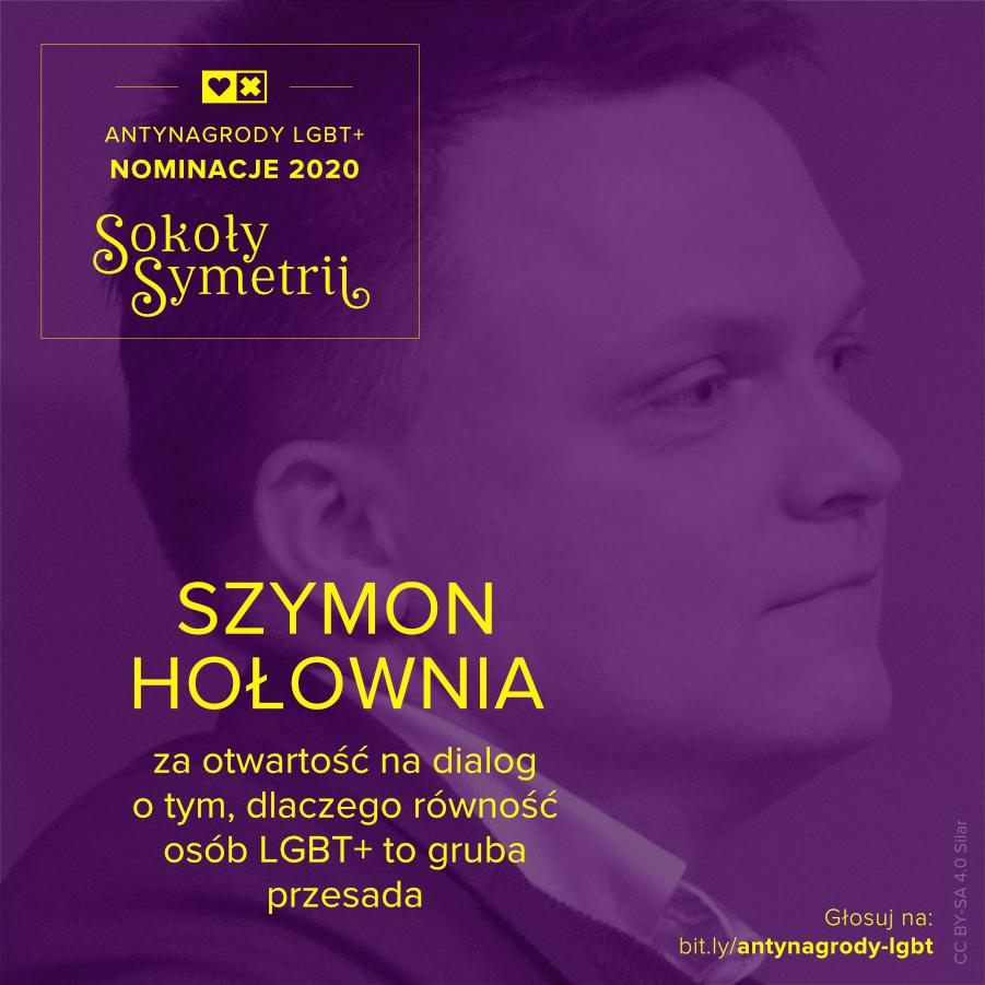 Antynagrody LGBT+ Miłość Nie Wyklucza Szymon Hołownia